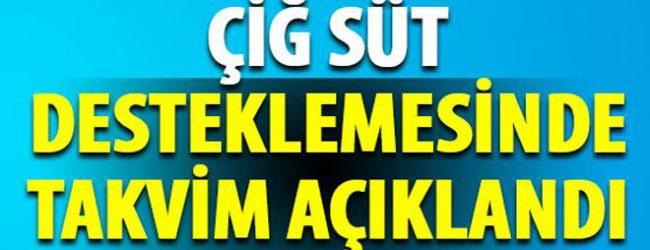 2017 Yili Kasim-Aralik Aylariçiğ süt destekleme ödemeleri H.K.